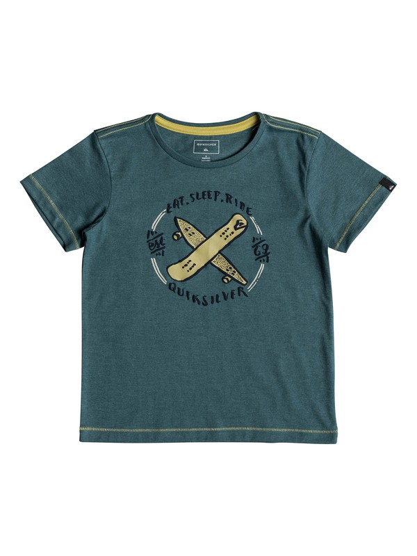 0 Eat And Ride - T-Shirt for Boys 2-7 Blue EQKZT03218 Quiksilver