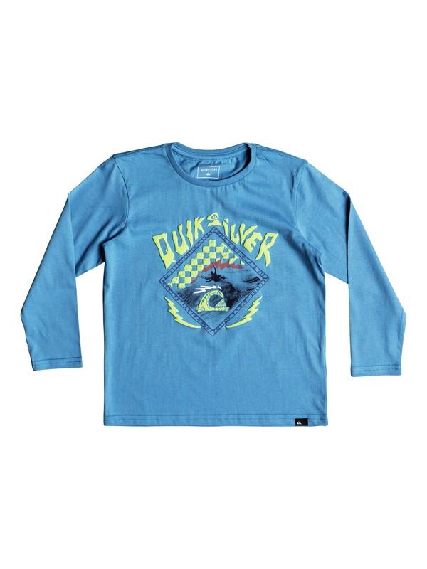 0 Hb Check - Long Sleeve T-Shirt Blue EQKZT03240 Quiksilver
