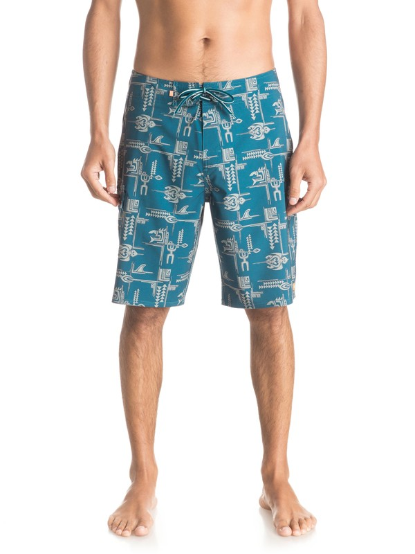 "0 Waterman Upstream Tribal 20"" Boardshorts  EQMBS03002 Quiksilver"