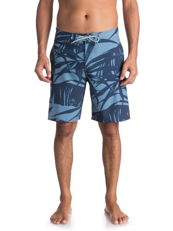 "0 Waterman Wake Palm 20"" - Boardshorts Blau EQMBS03034 Quiksilver"