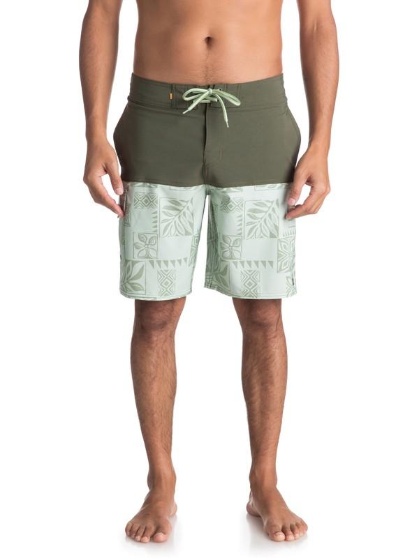"""0 Waterman Malama Bay 18"""" - Board Shorts for Men Green EQMBS03035 Quiksilver"""