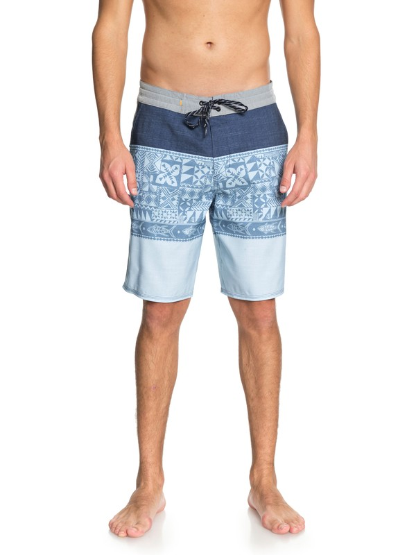 "0 Waterman Liberty Triblock 20"" - Board Shorts Blue EQMBS03038 Quiksilver"