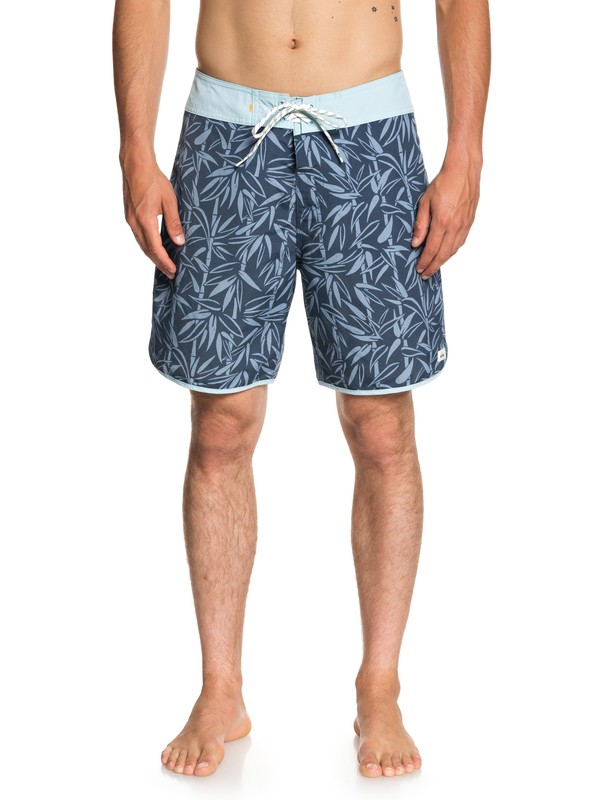 "0 Waterman Mana Scallop 19"" - Board Shorts for Men Blue EQMBS03043 Quiksilver"