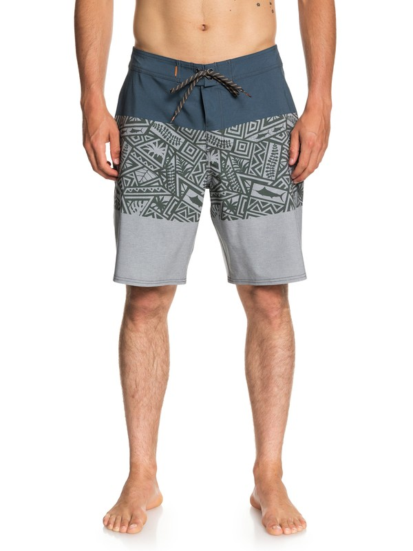 "0 Waterman Liberty Triblock 20"" Boardshorts Blue EQMBS03045 Quiksilver"