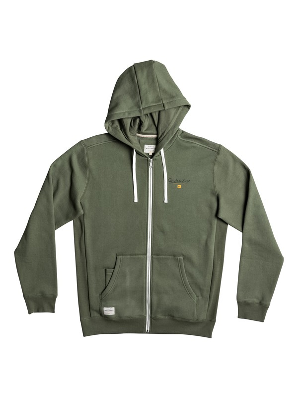 0 Waterman Ring The Bell Zip-Up Hoodie Green EQMFT03008 Quiksilver