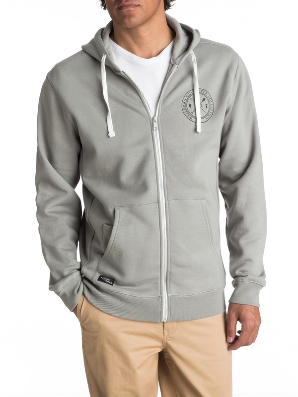0 Waterman Ring The Bell Zip-Up Hoodie Grey EQMFT03008 Quiksilver