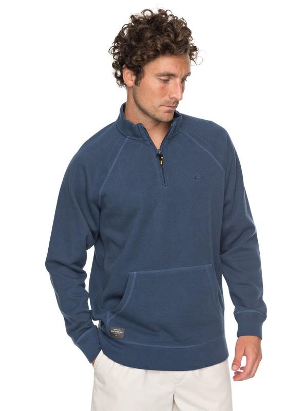 0 Waterman Great Wave - 1/2 Zip Sweatshirt for Men Blue EQMFT03018 Quiksilver