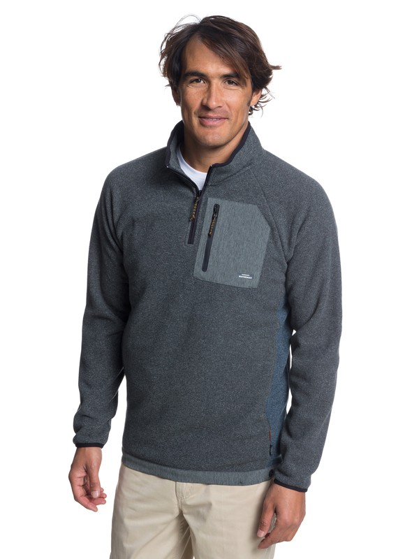 0 Waterman Bigger Boat Half-Zip Fleece Black EQMFT03027 Quiksilver