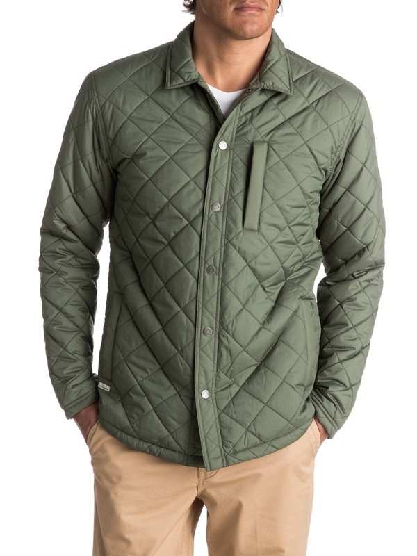 0 Waterman Puffed Up Water-Repellent Quilted Shirt Jacket  EQMJK03004 Quiksilver