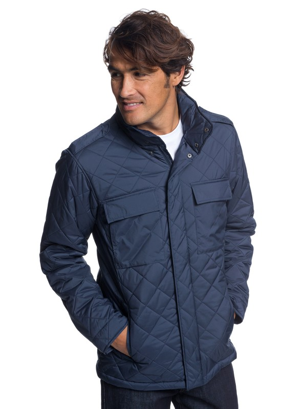 0 Waterman Last Out - Water-Resistant Hooded Field Jacket for Men Blue EQMJK03014 Quiksilver