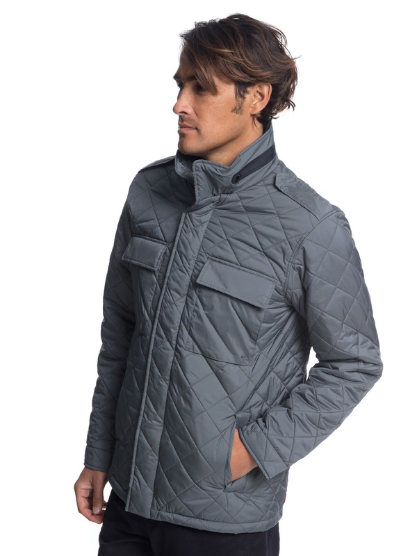 0 Waterman Last Out - Water-Resistant Hooded Field Jacket for Men Black EQMJK03014 Quiksilver
