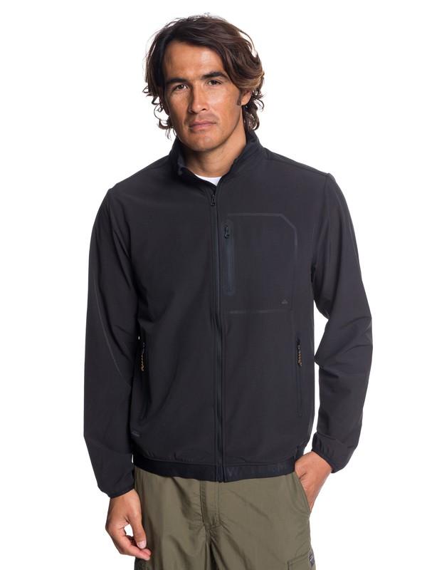 0 Waterman - Zip-Up Waterproof Paddle Jacket for Men Black EQMJK03016 Quiksilver