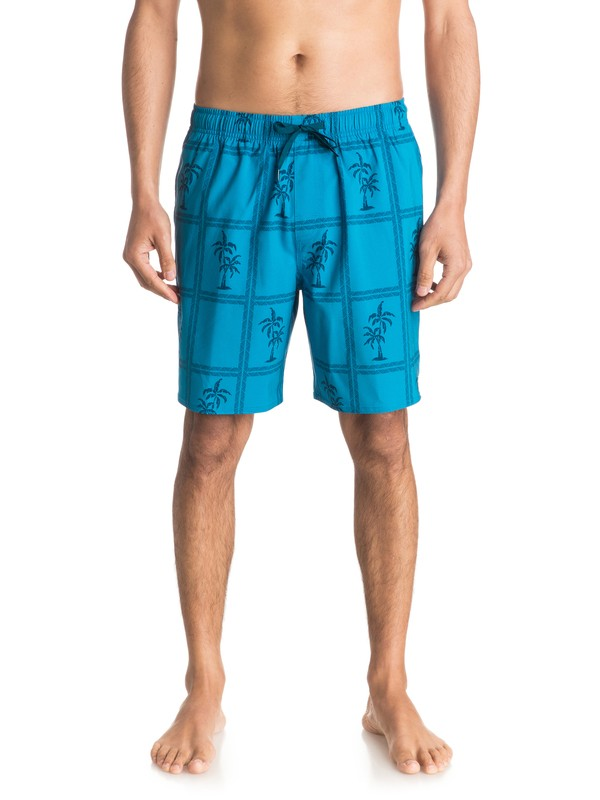 "0 Waterman Marineland Palms 18"" - Swim Shorts  EQMJV03004 Quiksilver"