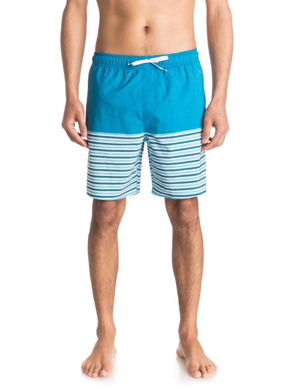 "0 Waterman Breezy Stripe 18"" - Schwimmshorts Blau EQMJV03005 Quiksilver"