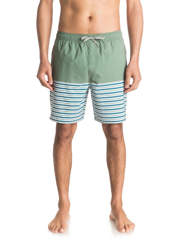 "0 Waterman Breezy Stripe 18"" - Short de bain Vert EQMJV03005 Quiksilver"