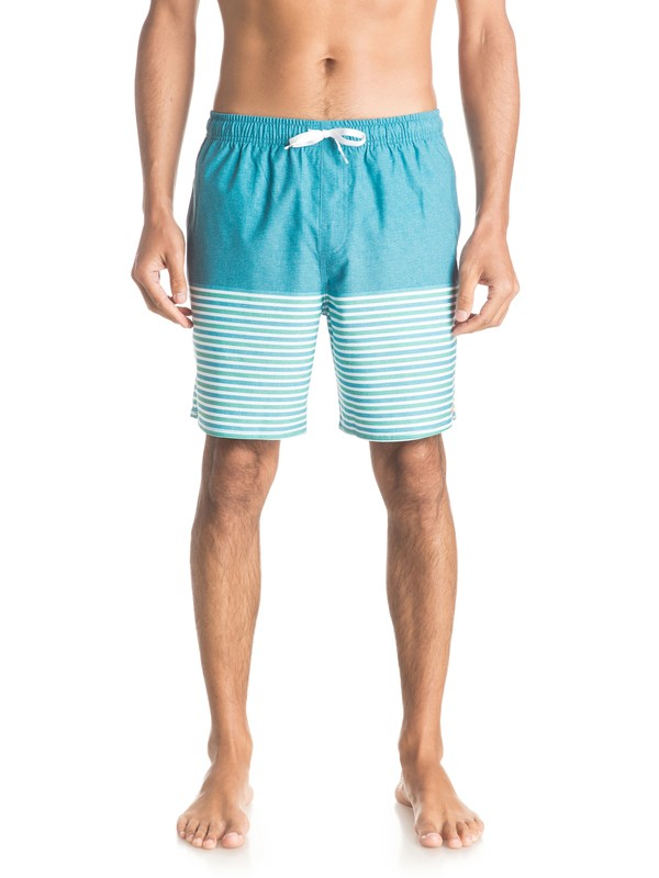 "0 Waterman Breezy Stripe 18"" Volleys  EQMJV03015 Quiksilver"