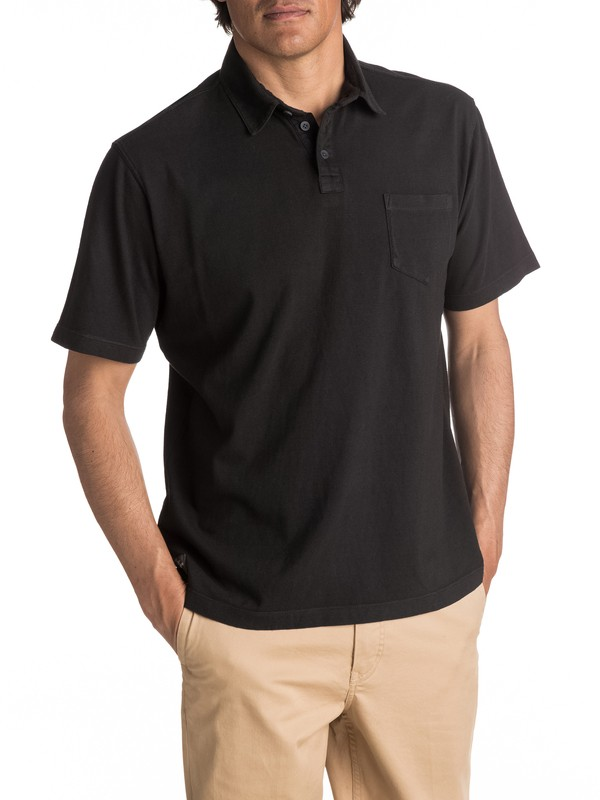 0 Waterman Strolo Polo Shirt Black EQMKT03015 Quiksilver