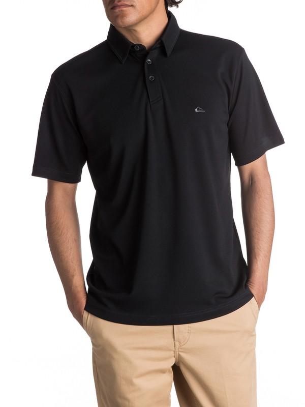0 Waterman Water Polo Shirt Black EQMKT03016 Quiksilver