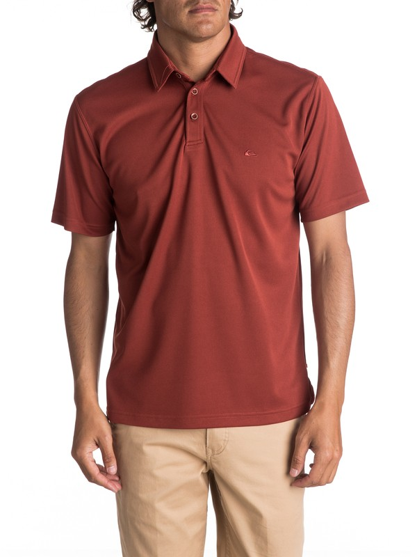 0 Waterman Water Polo Shirt Red EQMKT03016 Quiksilver