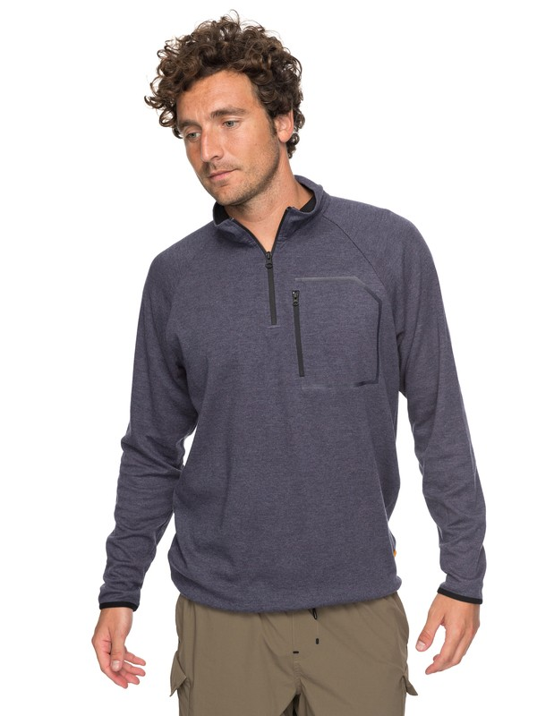 0 Waterman Quiksilver Technical Half-Zip Sweatshirt Blue EQMKT03024 Quiksilver