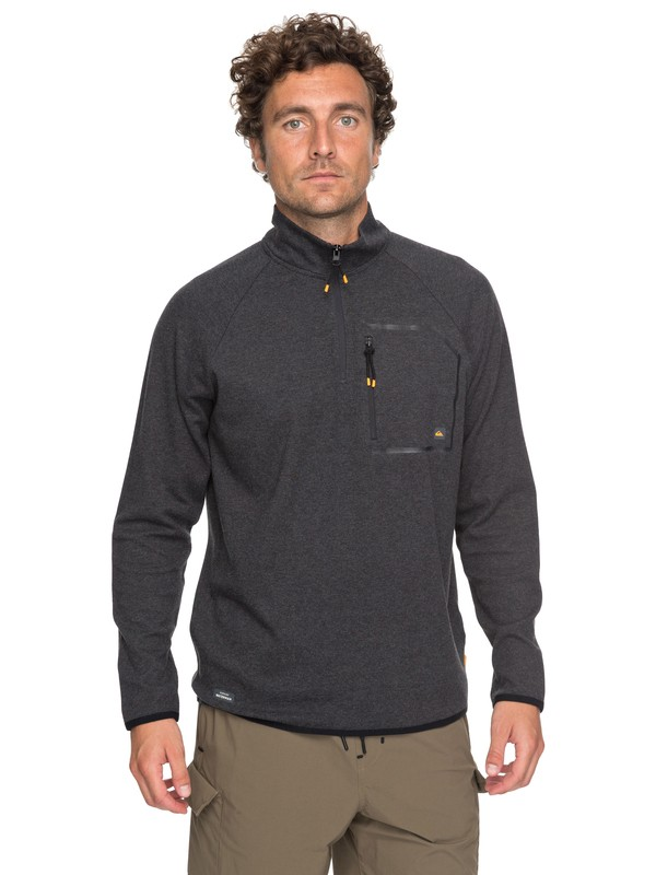 0 Waterman Quiksilver Technical Half-Zip Sweatshirt Black EQMKT03024 Quiksilver
