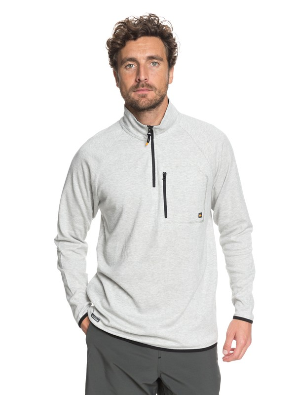 0 Waterman Quiksilver Technical Half-Zip Sweatshirt Grey EQMKT03024 Quiksilver