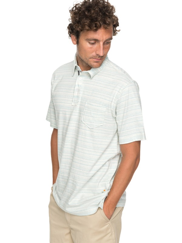 0 Waterman Sand Dollar - Polo Shirt Blue EQMKT03025 Quiksilver
