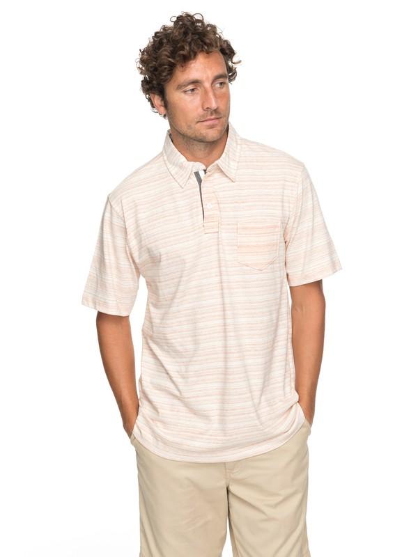 0 Waterman Sand Dollar Polo Shirt Orange EQMKT03025 Quiksilver