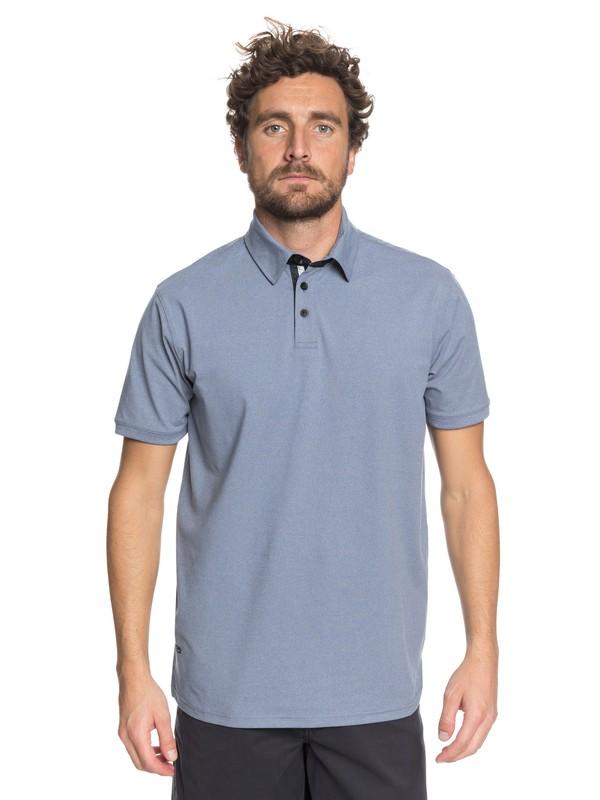 0 Waterman Reel Backlash Technical Polo Shirt Blue EQMKT03026 Quiksilver