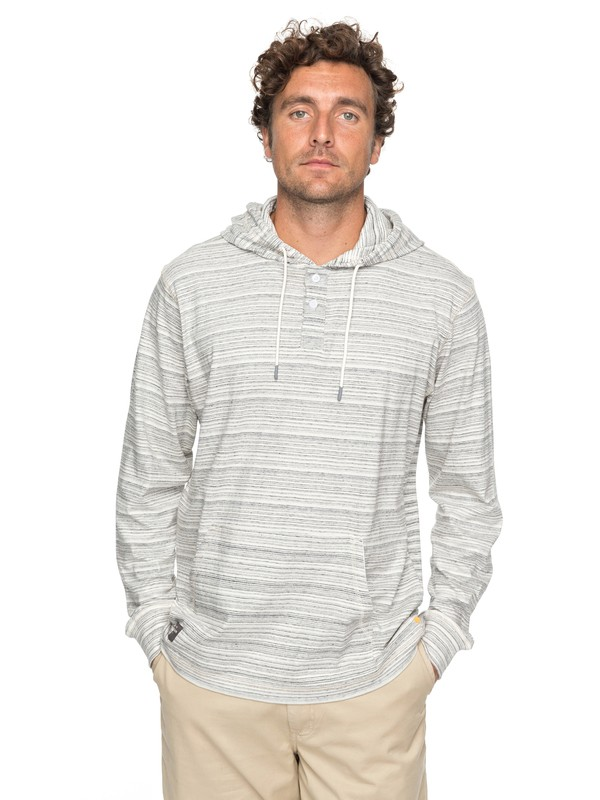 0 Waterman Sanberm Scope Long Sleeve Hooded Henley  EQMKT03027 Quiksilver