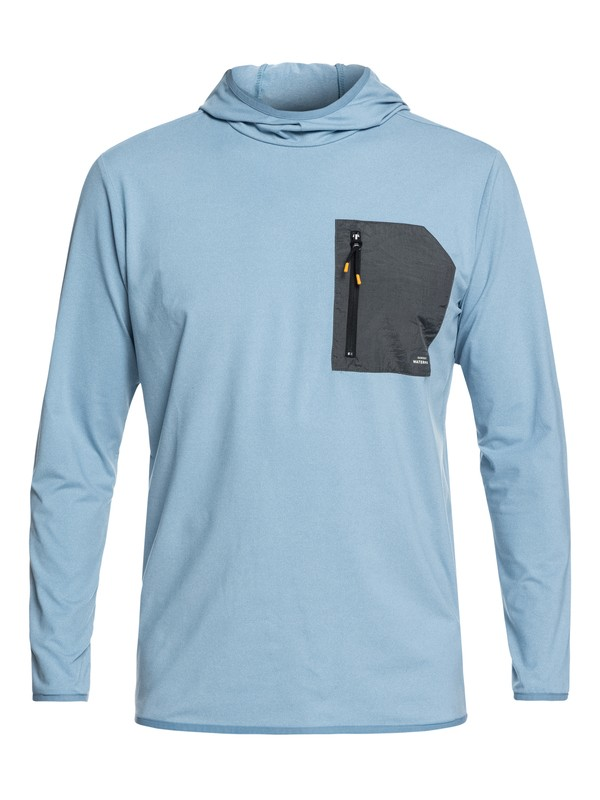 0 Waterman Explorer - Technical Hoodie Blue EQMKT03028 Quiksilver