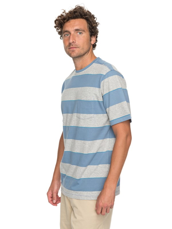 0 Waterman Tall Mountain - T-Shirt met Borstzak Blue EQMKT03030 Quiksilver