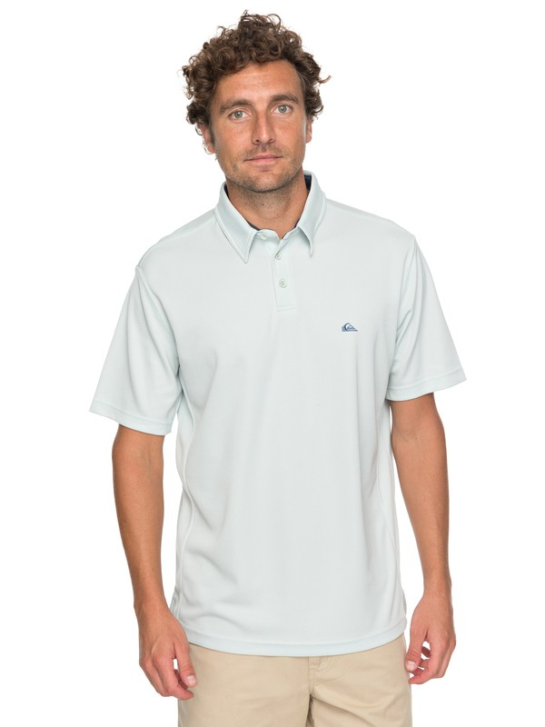 0 Waterman Water 2 Technical Polo Shirt Blue EQMKT03031 Quiksilver