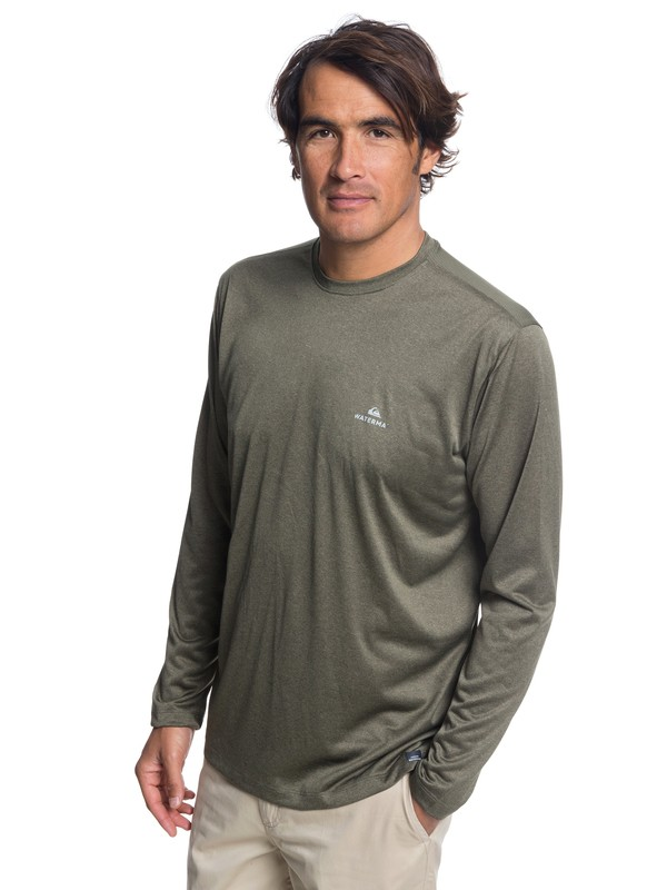 0 Waterman Heat Runner Long Sleeve Tee Brown EQMKT03040 Quiksilver