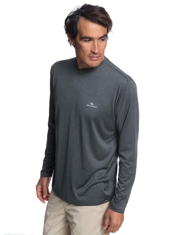 0 Waterman Heat Runner - Long Sleeve T-Shirt for Men Black EQMKT03040 Quiksilver