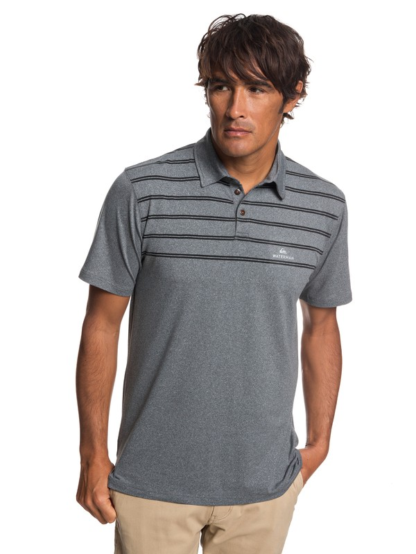 0 Waterman River Explorer Technical Short Sleeve Polo Shirt Black EQMKT03043 Quiksilver