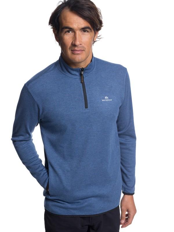 0 Waterman Sea Explorer Technical Half-Zip Sweatshirt Blue EQMKT03044 Quiksilver