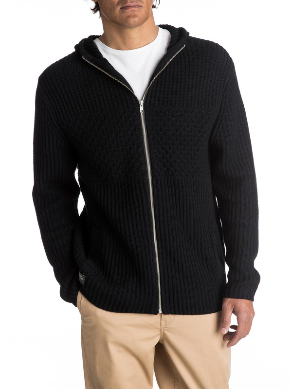 0 Waterman High Winds - Pull zippé à capuche pour Homme Noir EQMSW03005 Quiksilver