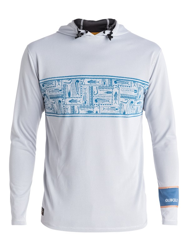 0 Waterman Hooked Hooded Long Sleeve Rashguard  EQMWR03008 Quiksilver
