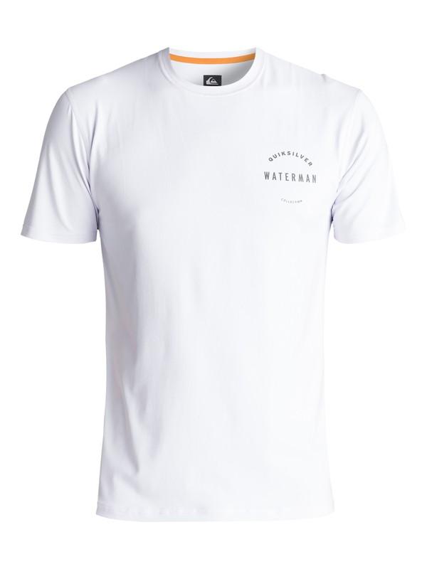 0 Waterman Mullaway - Amphibian UPF 50 Surf T-Shirt für Männer Weiss EQMWR03017 Quiksilver