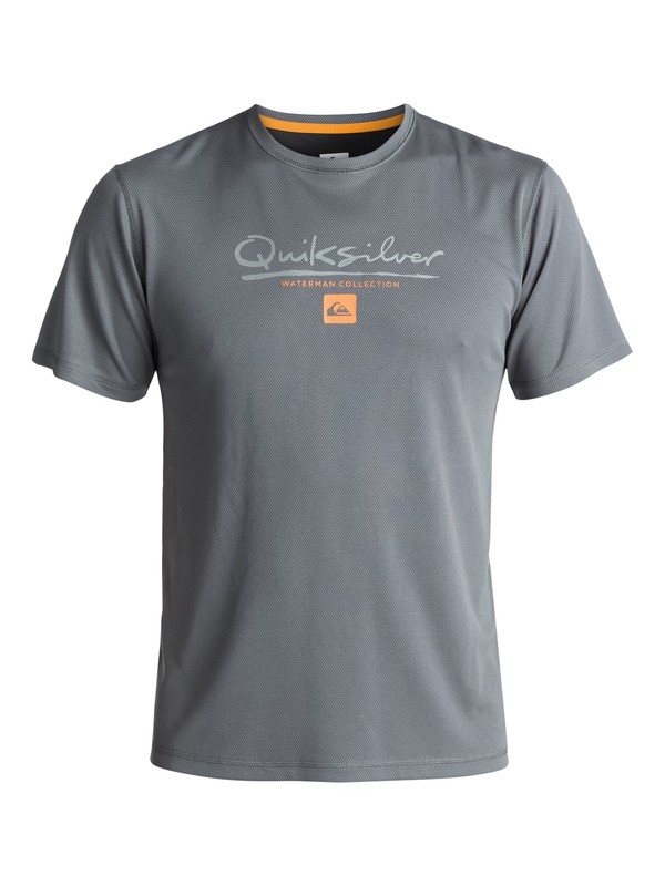 0 Waterman Gut Check Amphibian UPF 40 Surf Tee Black EQMWR03018 Quiksilver