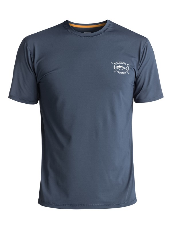 0 Waterman Chill Amphibian UPF 50 Surf Tee Blue EQMWR03020 Quiksilver