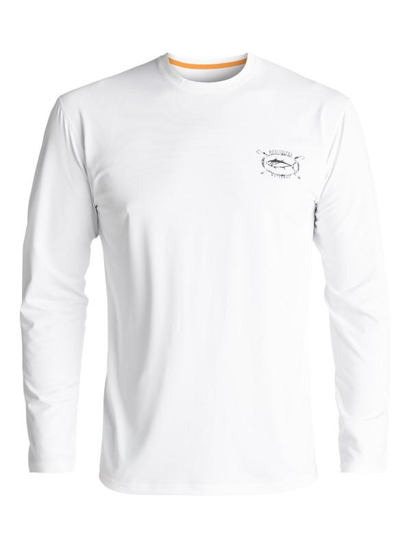 0 Waterman Chill - Amfibisch UPF 50 Surf T-Shirt met Lange Mouwen White EQMWR03021 Quiksilver