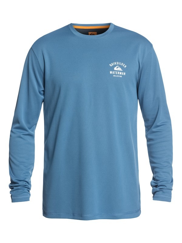 0 Waterman Gut Check Long Sleeve UPF 50 Rashguard Blue EQMWR03041 Quiksilver