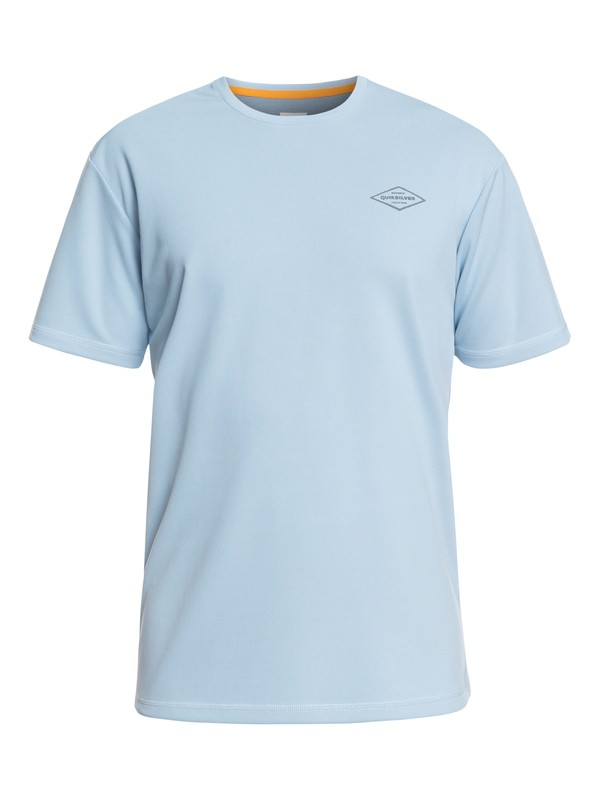 0 Waterman Gut Check Short Sleeve UPF 30 Rashguard Blue EQMWR03050 Quiksilver