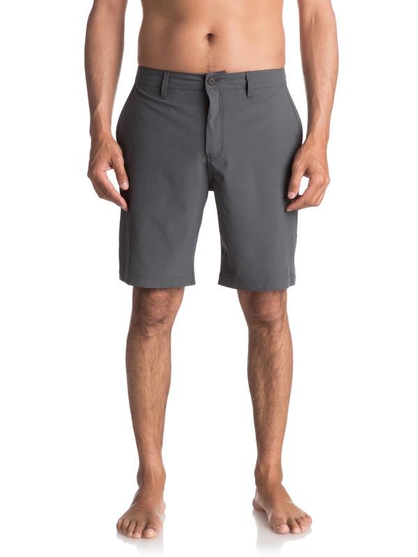 "0 Waterman Vagabond 20"" Amphibian Shorts Black EQMWS03011 Quiksilver"