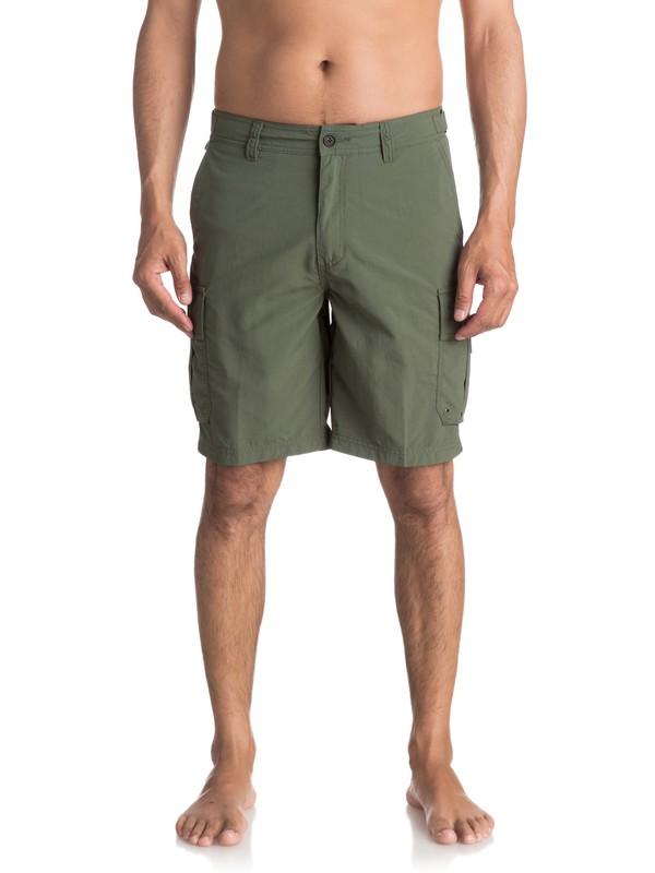 0 Waterman Skipper Cargo Shorts Green EQMWS03016 Quiksilver