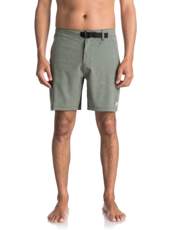 "0 Watermans Venture Amphibian 19"" Shorts Green EQMWS03035 Quiksilver"
