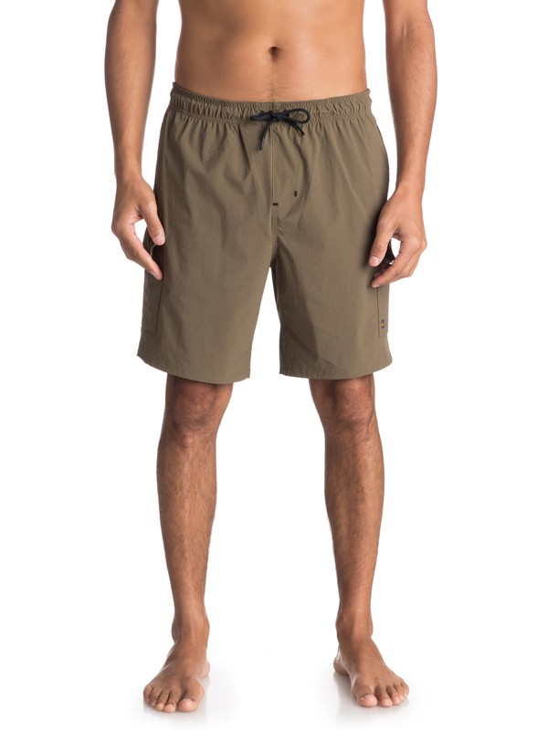 0 Waterman Explorer Technical Cargo Shorts Brown EQMWS03041 Quiksilver