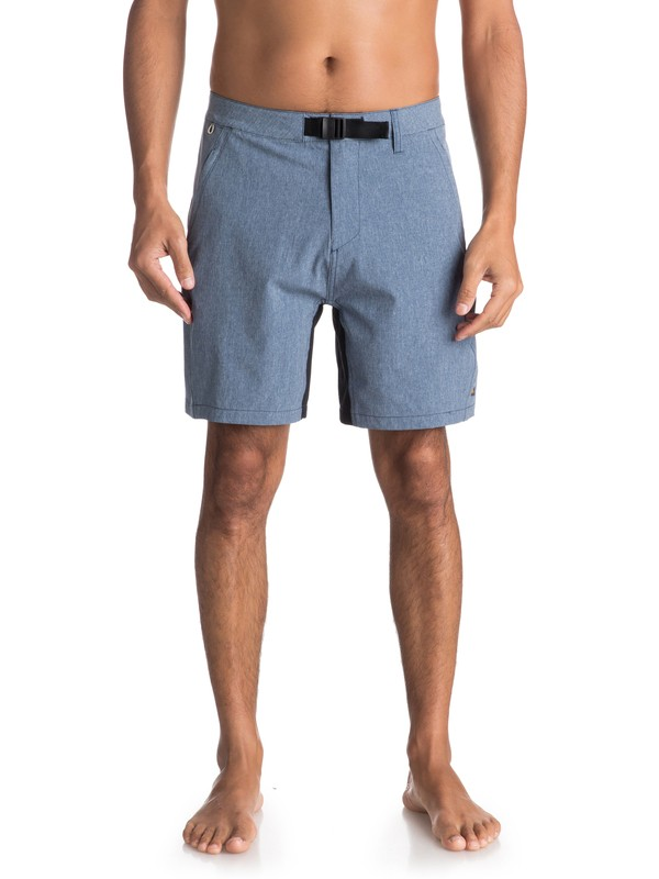 "0 Waterman Venture 19"" Amphibian Shorts Blue EQMWS03049 Quiksilver"